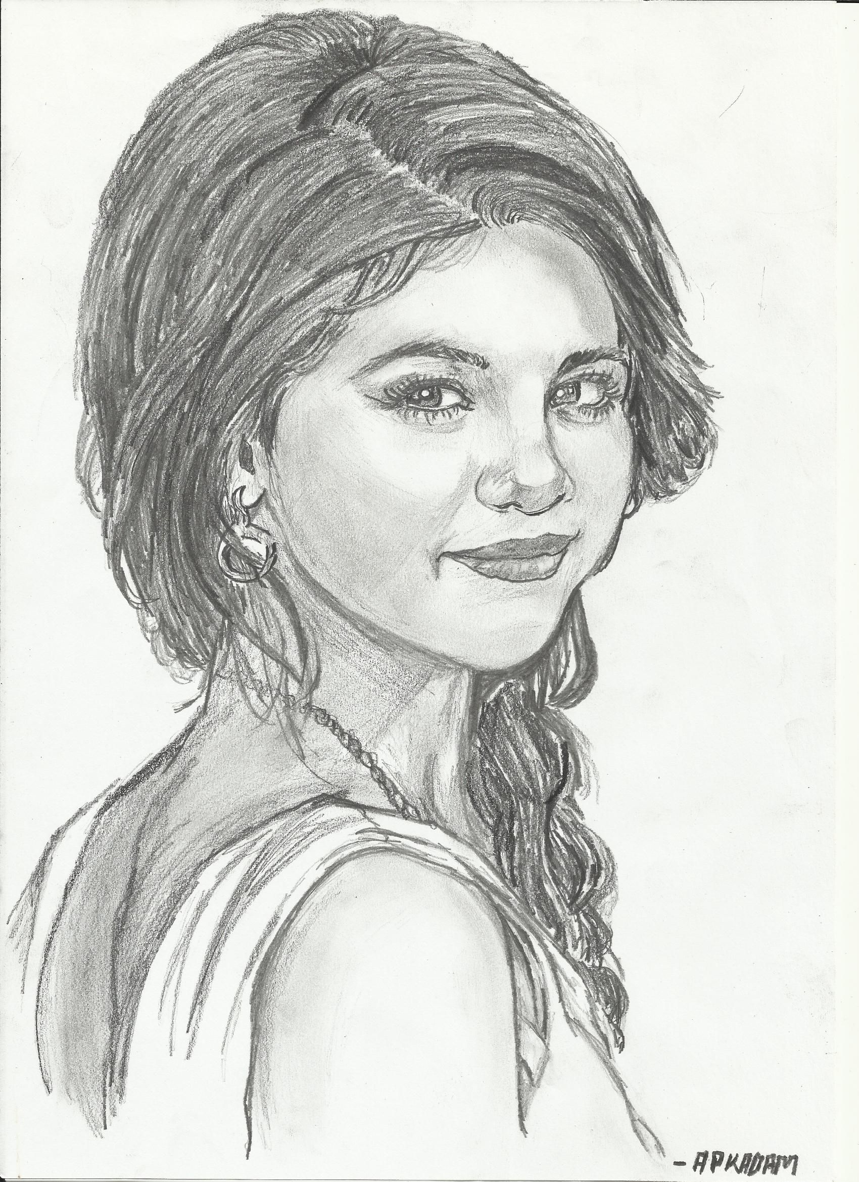 Selena Gomez Pencil Sketch made by me | Sketches, Fashion ...