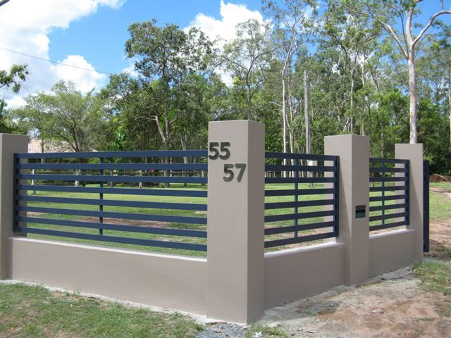 Horizontal Slat Fence Panels With Wide Gap Slatted Fence Panels Fence Panels Fence Design