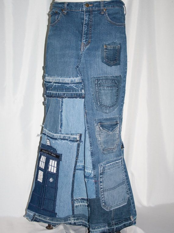 Doctor Who Inspired Reconstructed Recycled Denim by CartersFarm, $105.00