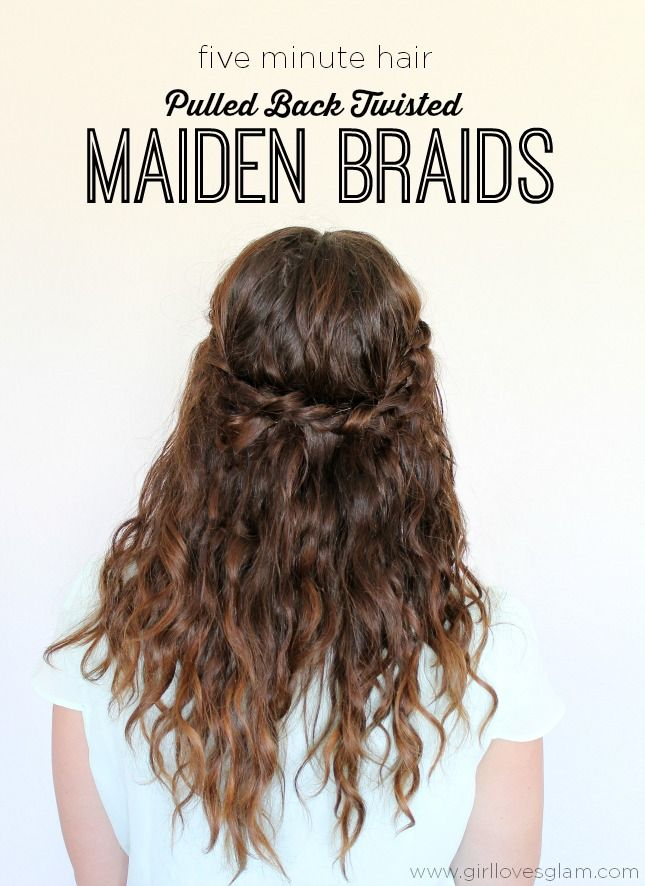 5 Minute Hair Pulled Back Twisted Maiden Braids Jadore Curly