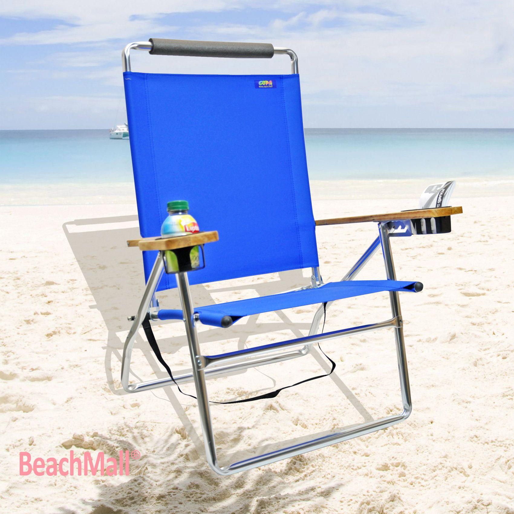 Deluxe 4 position High Beach Chair http//www.beachmall