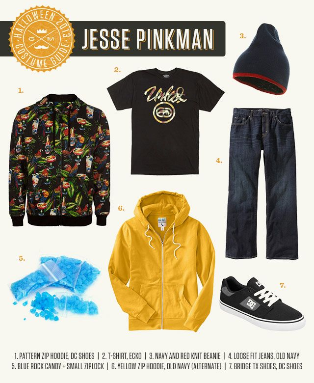 Halloween Costume Guide Jesse Pinkman from Breaking Bad. Wear oversized Skate Clothes blue meth made from rock candy and use Jesseu0027s favorite word!  sc 1 st  Pinterest & Halloween Costume Ideas for Men | Pinterest | Jesse pinkman ...