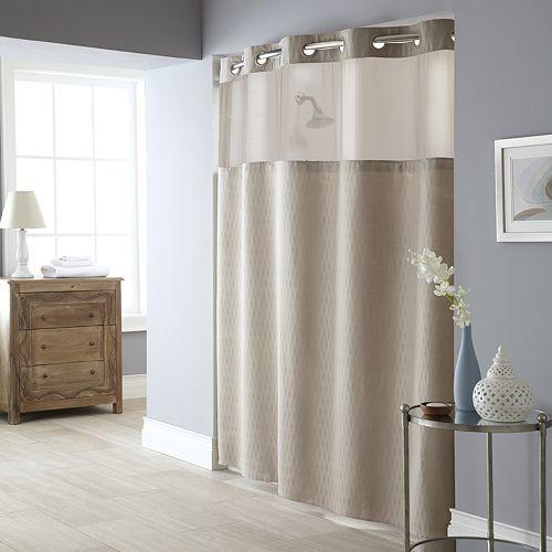 Windowpane 2-pc. Fabric Shower Curtain & Liner Set ...