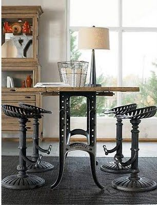 Dining Table Idea. Also Looks High Enough To Prevent Beagle Dinner  Stealage. Fancy   Steampunk Table