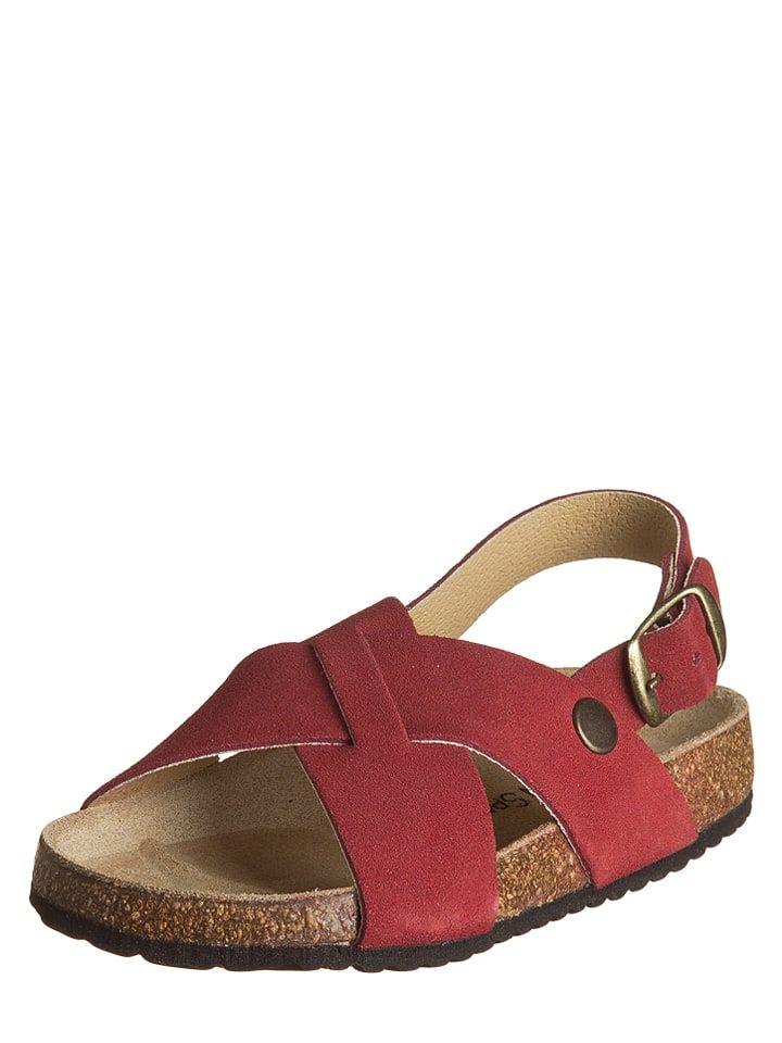 Little Sky Skorzane Sandaly Little Sky W Kolorze Czerwonym Shoes Sandals Birkenstock