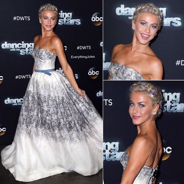 About last night... I absolutely loved this look. And that dress is gorgeous!  #juliannehough #DWTS