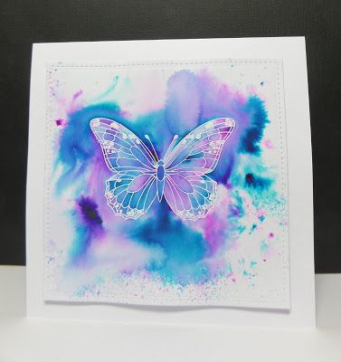 Hi, Sarah G here! I have been playing with colour bursts and wanted to try out these vibrant colours with some Uniko designs. I white e...