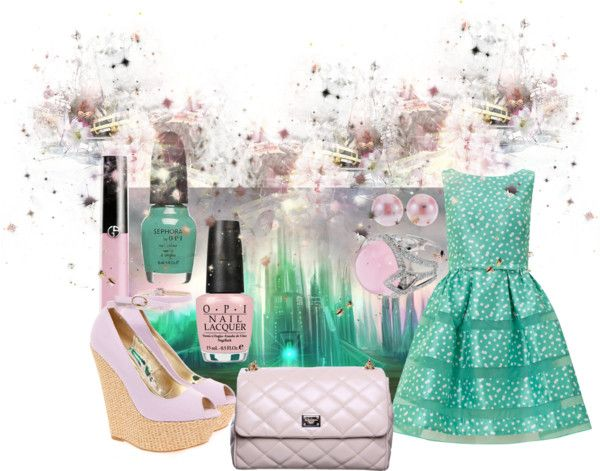 """Emerald City"" by pamela-heinbaugh ❤ liked on Polyvore"