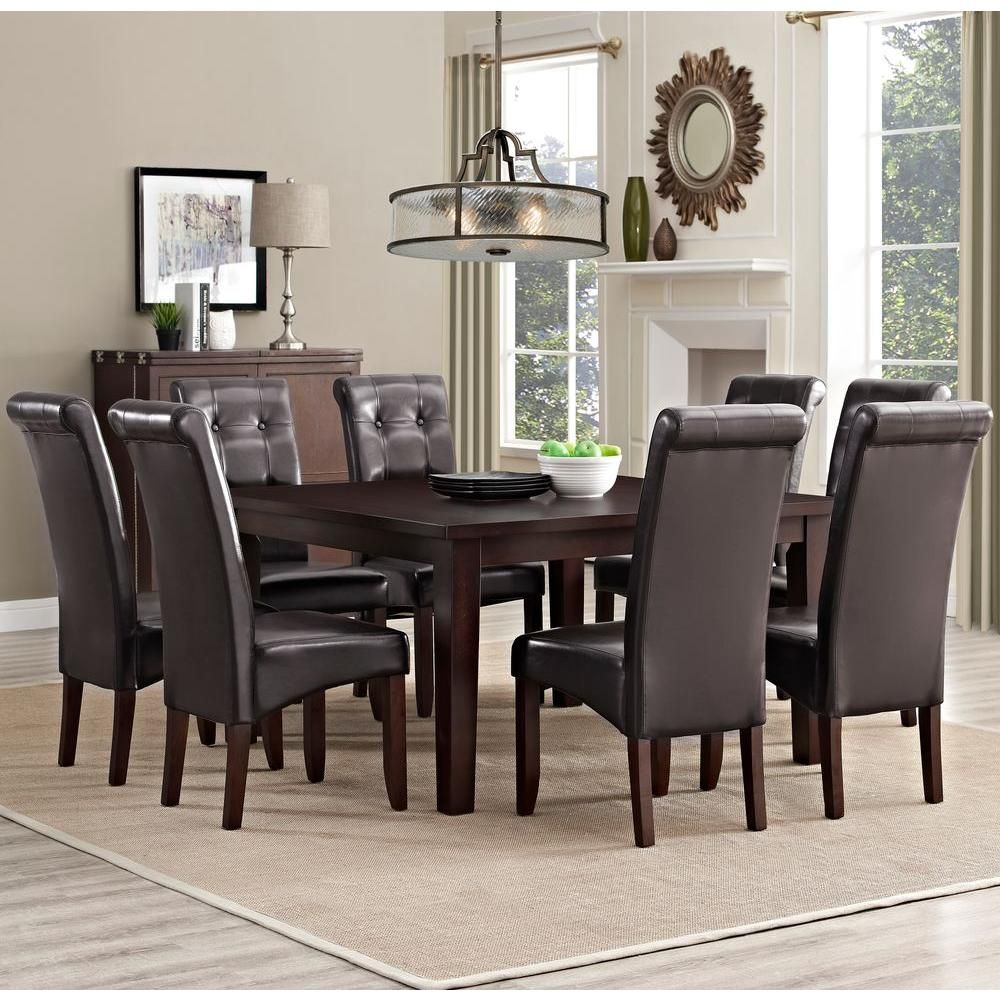 Cosmopolitan 9-Piece Tanners Brown Dining Set | Products