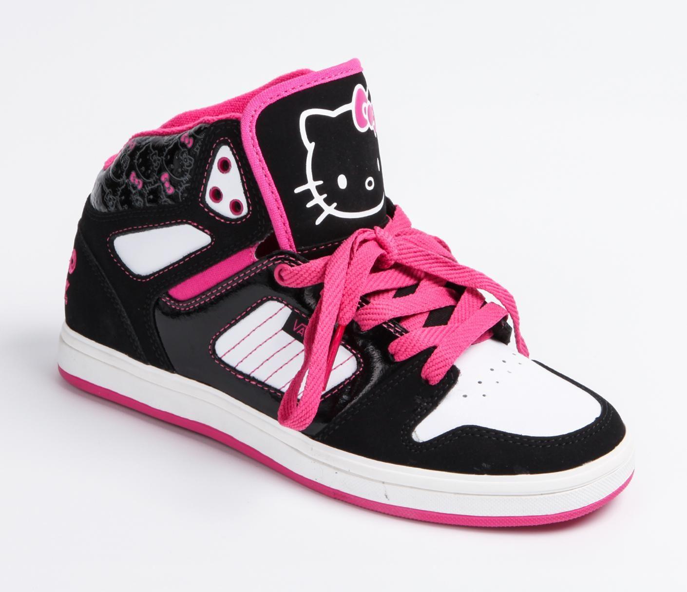 26699406ebe VANS x Hello Kitty Authentic Allred Hi  Blk Wh Calçados Infantis