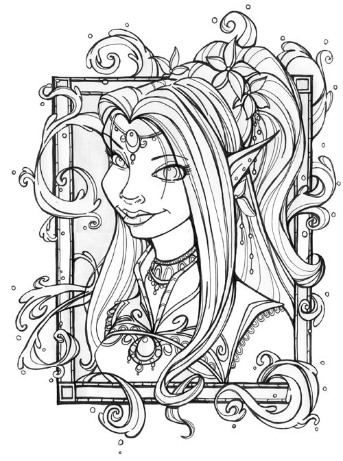 the empress 39 portrait by miraelizabeth on deviantart fairies angels colouring pages blank. Black Bedroom Furniture Sets. Home Design Ideas