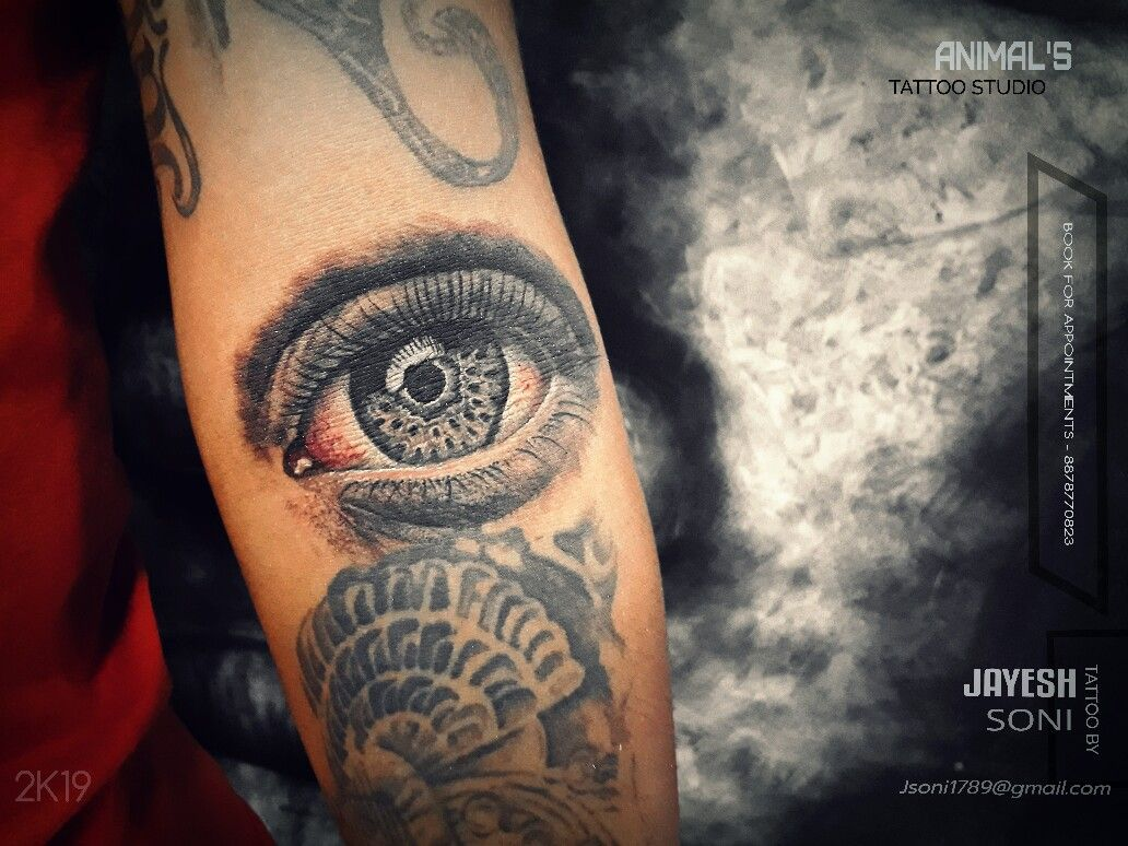 Realism eye tattoo by , JAYESH SONI @a_for_artist_29 HOPE