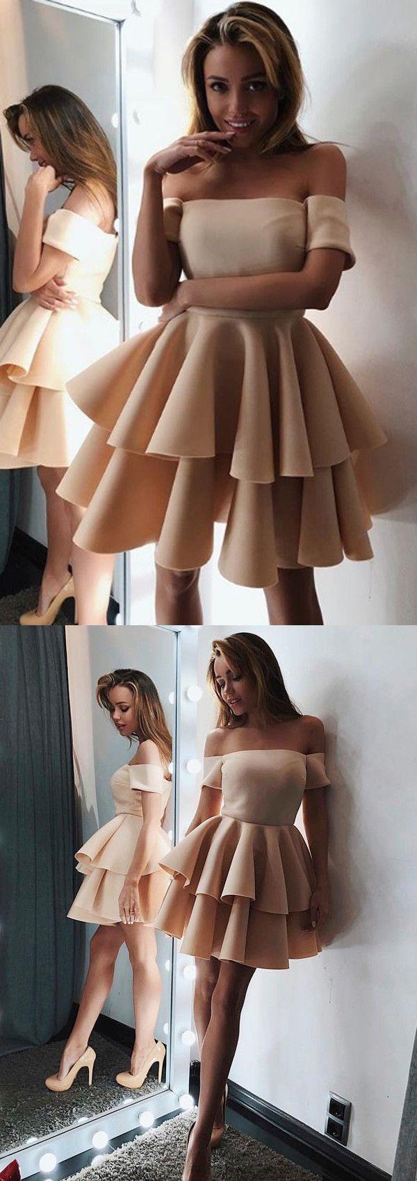 Chic short prom dress aline offtheshoulder shortmini short prom