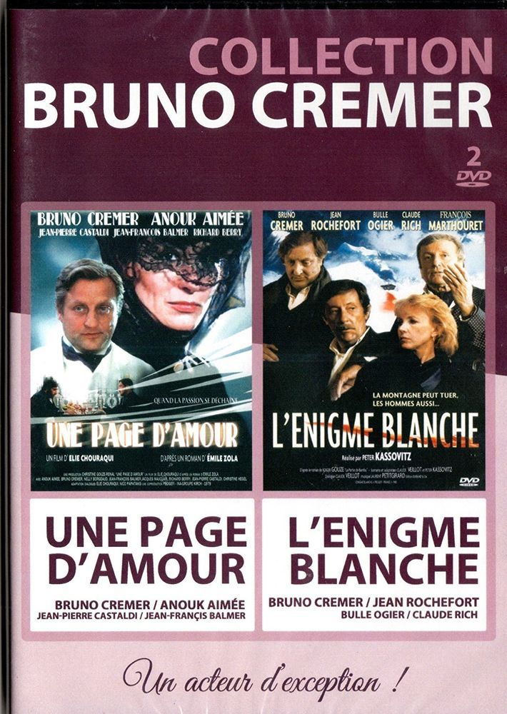 collection bruno cremer l nigme blanche une page d 39 amour dvd neuf dvd films nouveautes. Black Bedroom Furniture Sets. Home Design Ideas