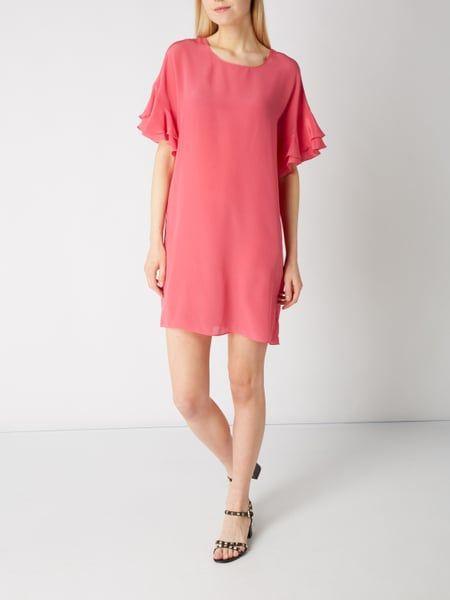 Kleid magenta seide