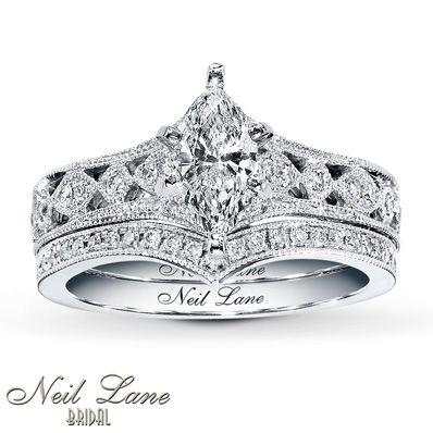 98b6e3bb9 Jared - Neil Lane Bridal Setting 3/8 ct tw Diamonds 14K White Gold ...