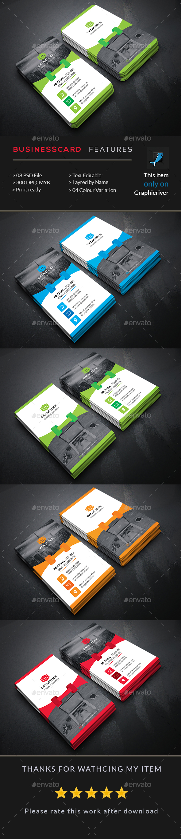 Corporate Vertical Business Card Template PSD | Business Card ...