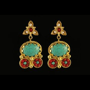 Athena Earrings Turquoise now featured on Fab.