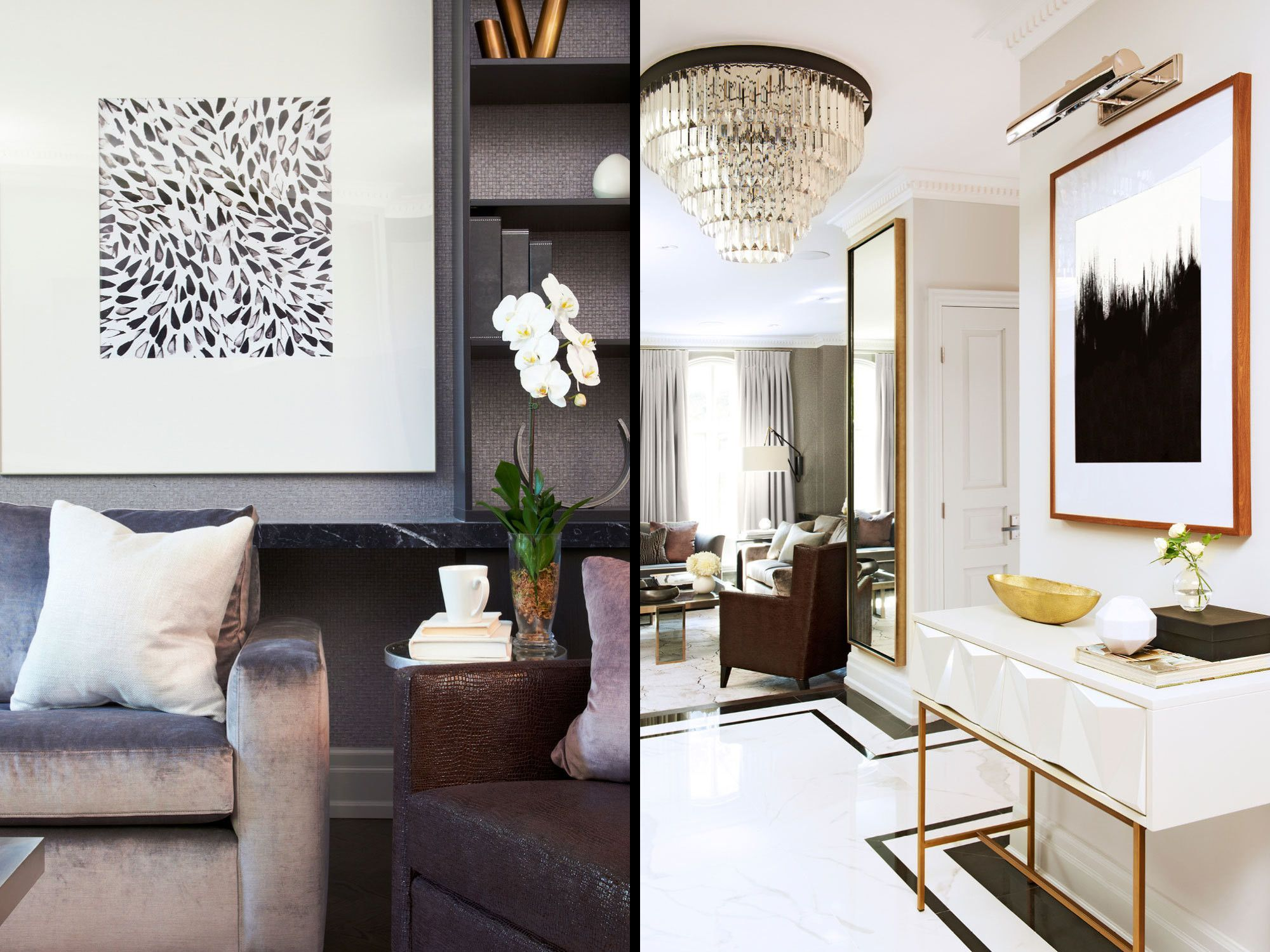 Modern hallway furniture ideas  A Sleek Modern Home That Blends Warmth and Style  Toronto Modern