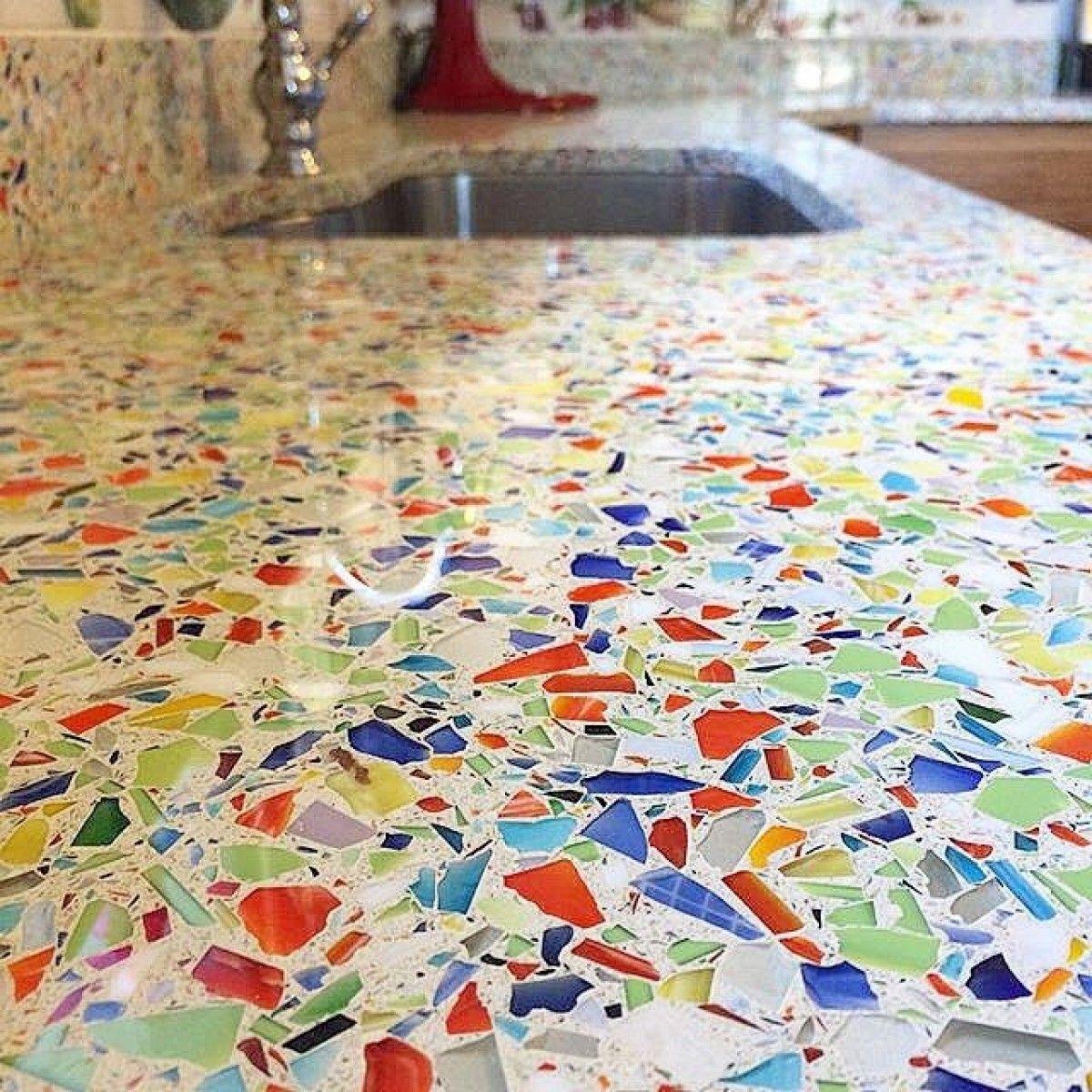 Vetrazzo Millefiori Glass Countertops Recycled Glass Countertops Recycled Glass