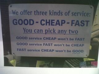 Service definition, cool one