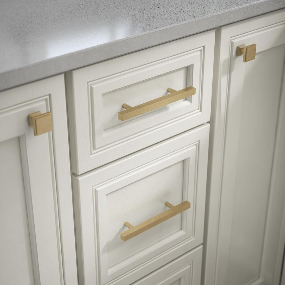 Liberty Square 3 34 In 96 Mm Champagne Bronze Cabinet Bar Pull