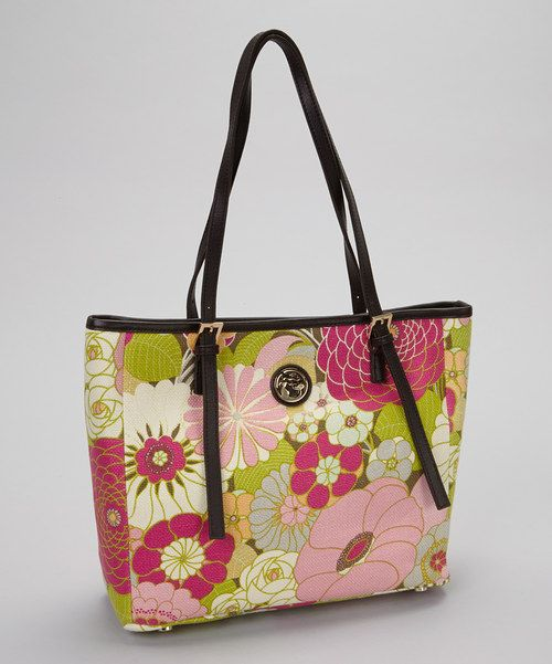 Take a look at the Spartina 449 Cream & Pink Camellia Tote on #zulily today!
