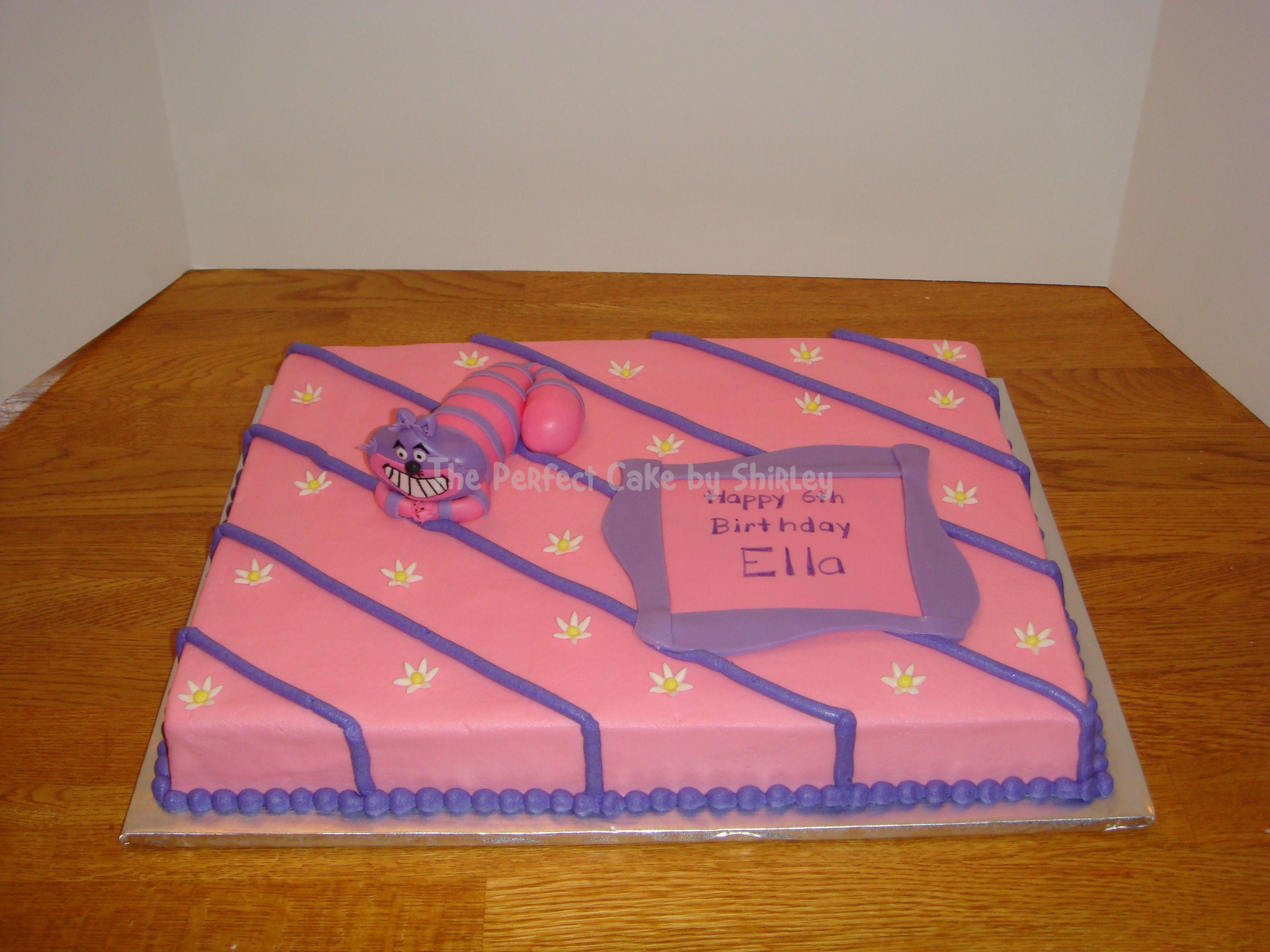 Cheshire Cat sheet cake Cheshire cat sheet cake kept simple due