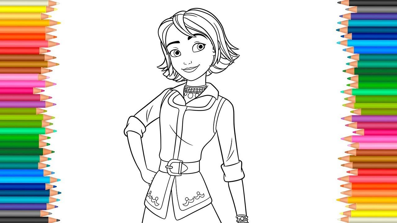 Naomi Disney Coloring Pages Elena Of Avalor Coloring Book Videos For Chi