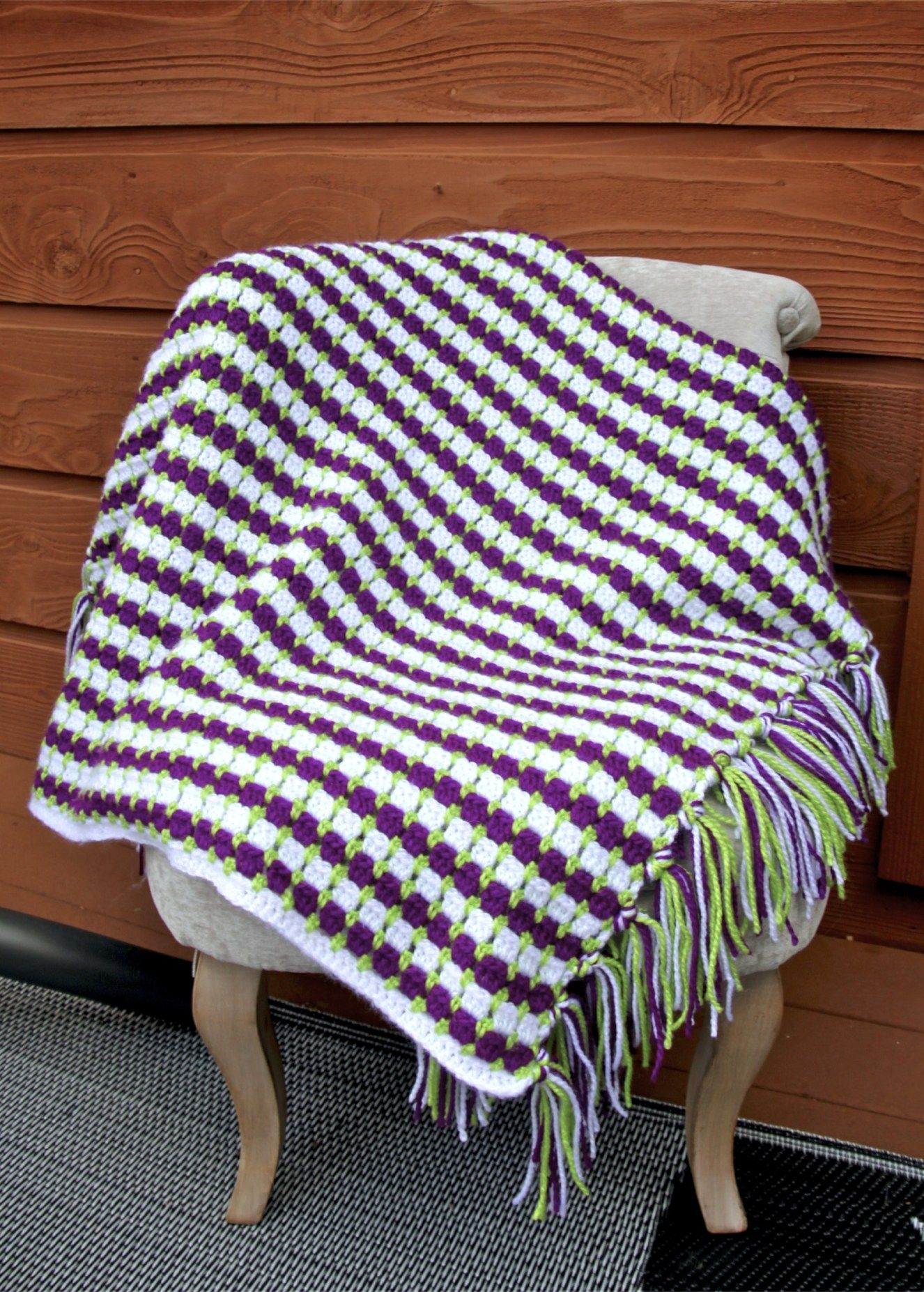 Grapevine Crochet Lap Afghan Free Pattern With Block