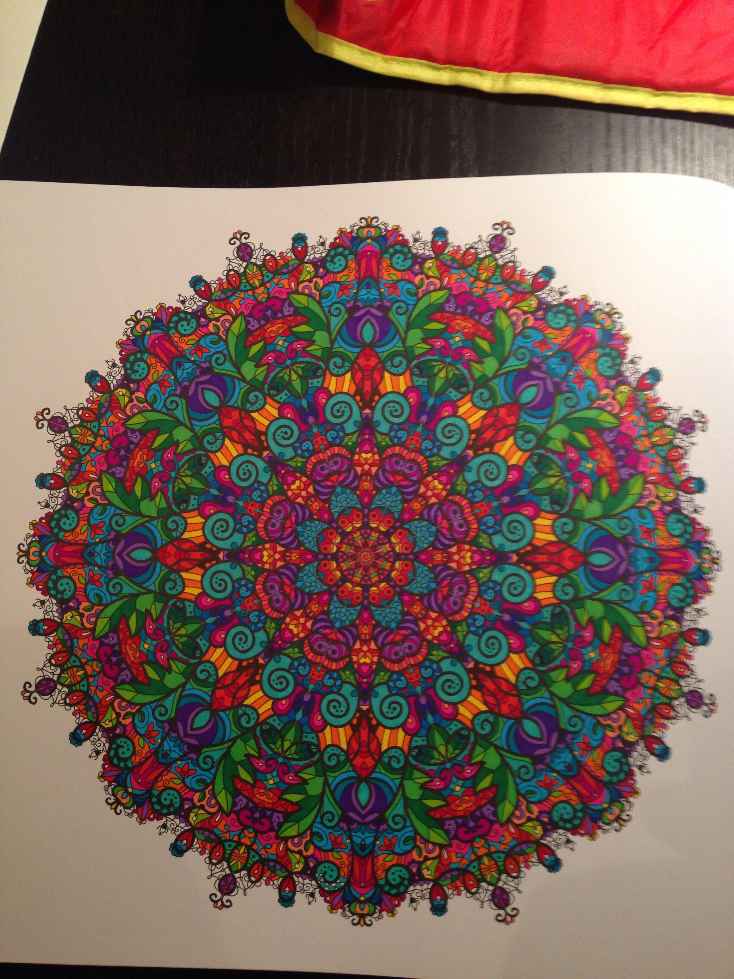 Mandalakleurboek Ingekleurd Met Stabilo Fineliners Mandala Kleurplaten Kleuren Kleurboek