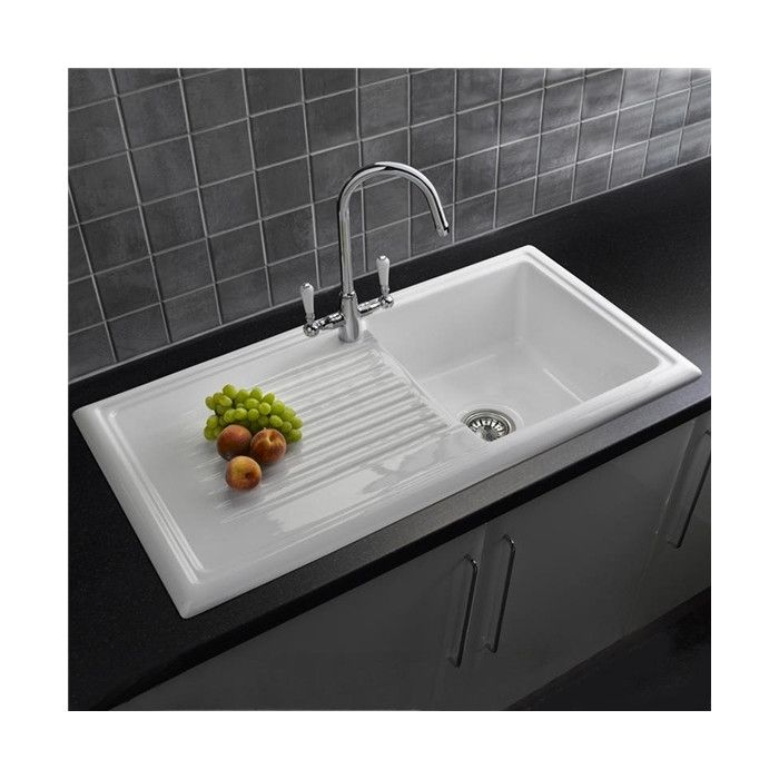 Single Bowl Inset Kitchen Sink White Ceramic Kitchen Sink Ceramic Kitchen Sinks Best Kitchen Sinks