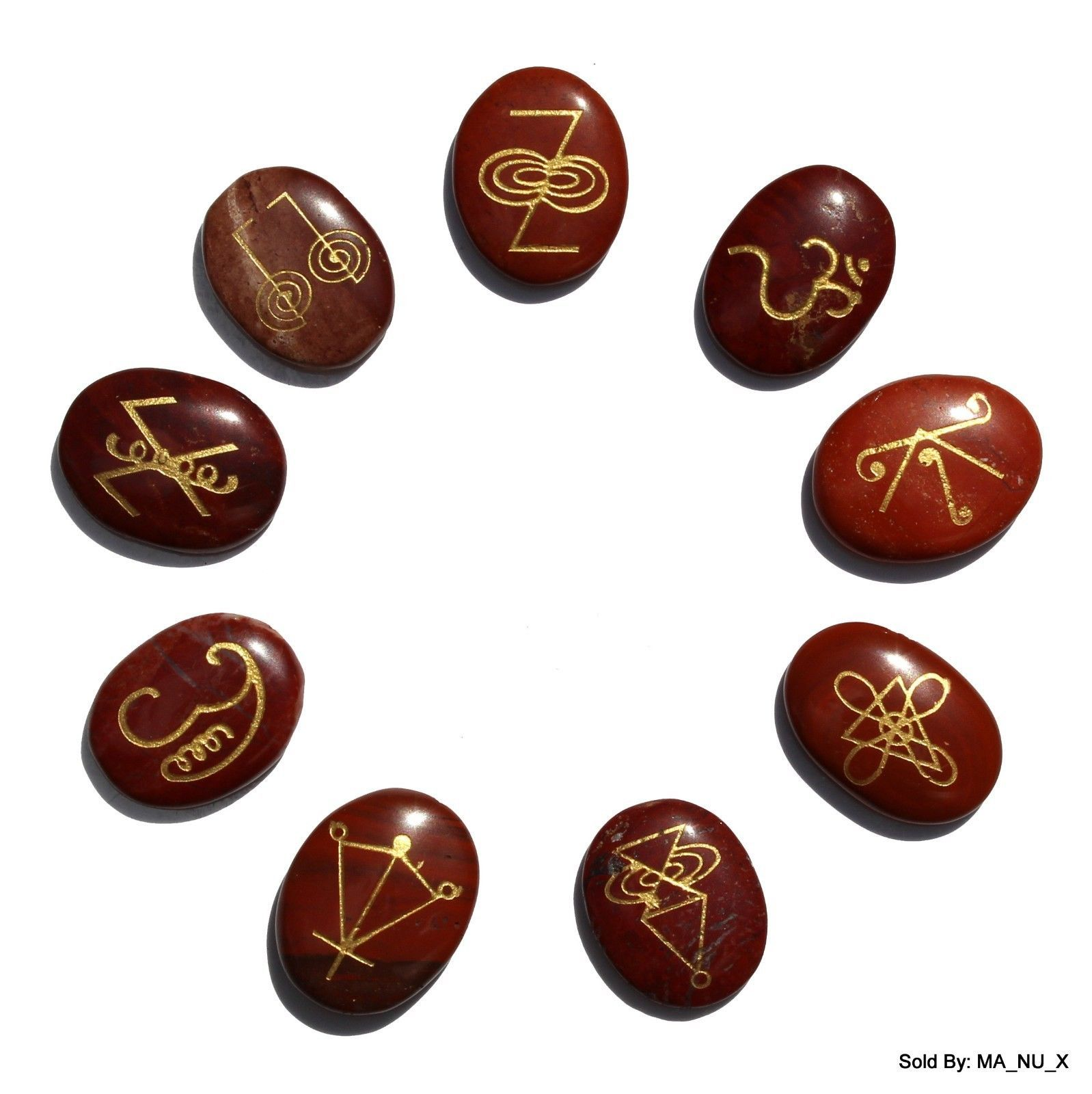 9 oval stone set made from red jasper and etched with powerful 9 oval stone set made from red jasper and etched with powerful karuna reiki symbols buycottarizona Images