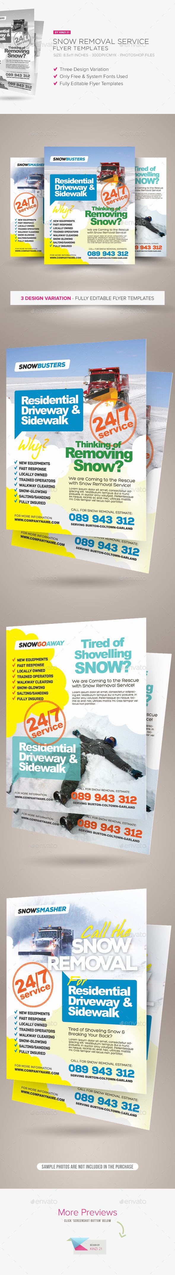 Snow Removal Service Flyers Flyer Templates Pinterest Flyer