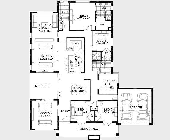 Floor Plan Friday Love The Front Verandah Floor Plans Home Design Floor Plans Front Verandah