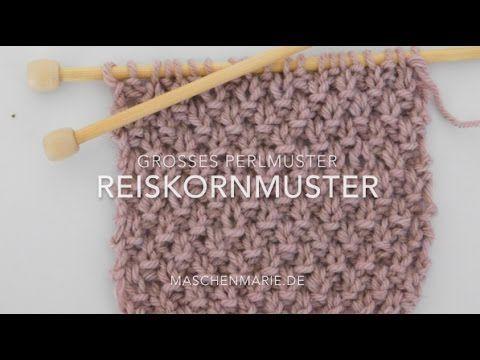 Das Reismuster Stricken Rechts Links Muster Fur Anfanger Youtube Stricken Rechts Links Muster Schal Stricken Muster Stricken Anfanger