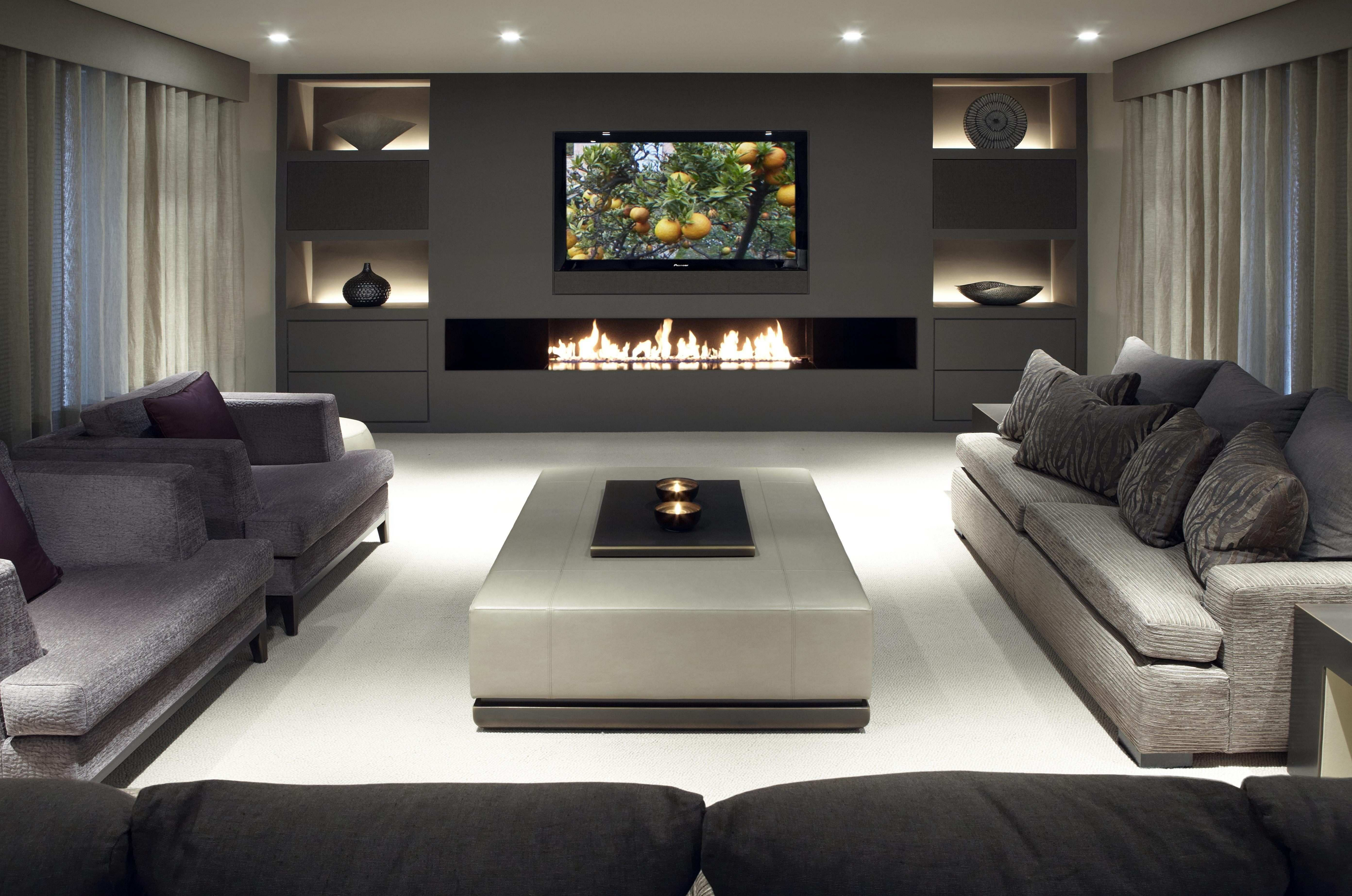35 Stunning Modern Living Room Design With Fireplaces Ter