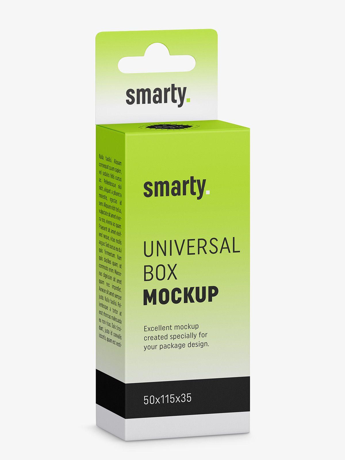 Download Hanging Box Mockup 50x115x35 Smarty Mockups Box Mockup Box Mockup
