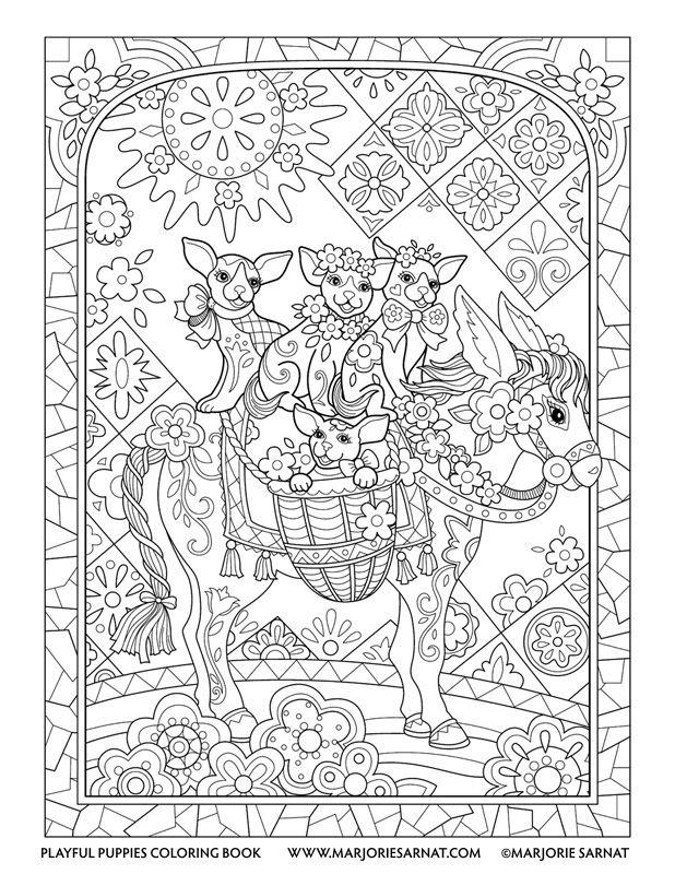 Burro Pups | colouring | Pinterest | Burritos, Colorear y Mandalas