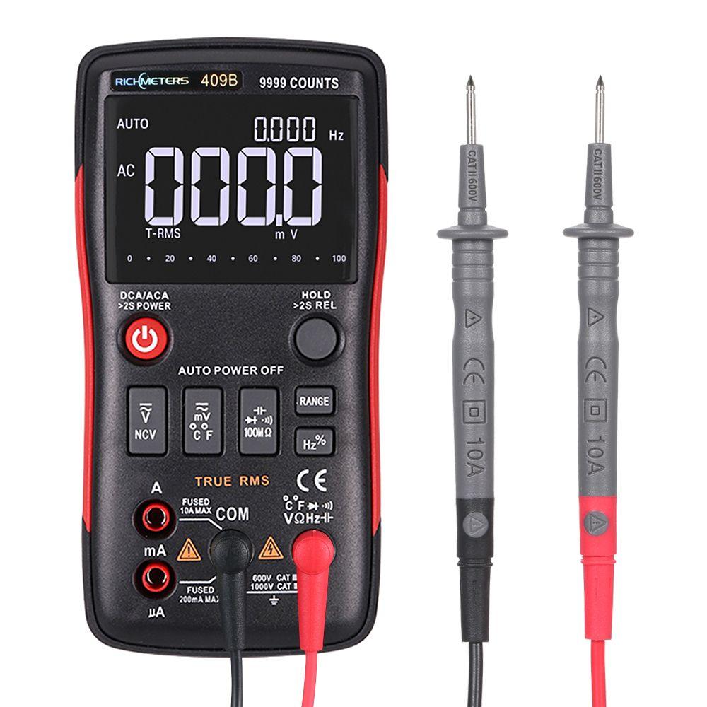 Richmeters Rm409b True Rms Digital Multimeterwith Analog Bar Graph Temperature Sensor Test Ac Dc Voltage Ammeter Current Richme Ac Dc Voltage Multimeter Acdc