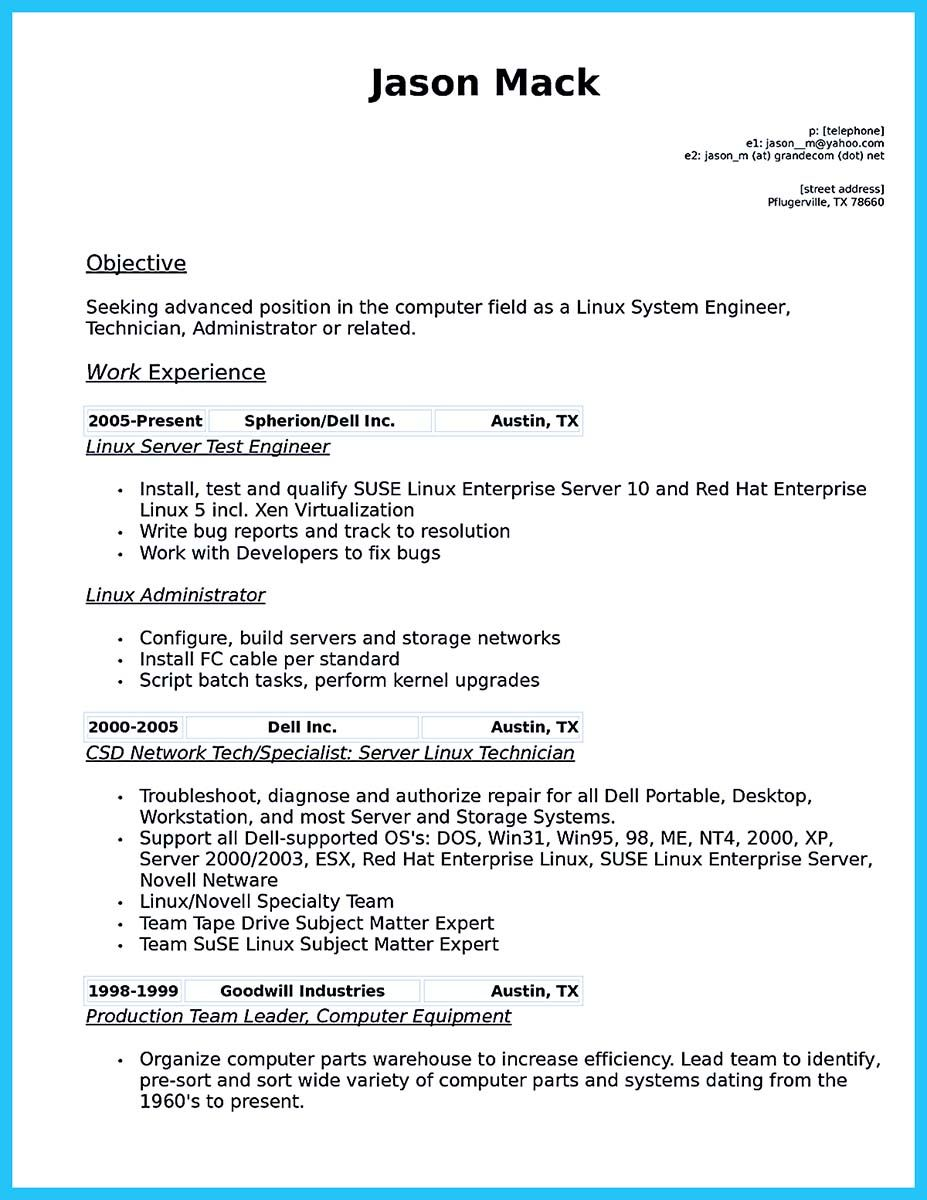 Awesome How To Make Cable Technician Resume That Is Really Perfect Check More At Http Snefci Org How To Make Cable Technician Resume That Is Really P Template