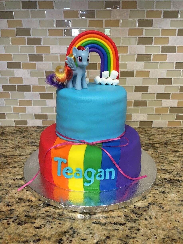 Teagan's Rainbow dash birthday cake. March 2015 Rainbow