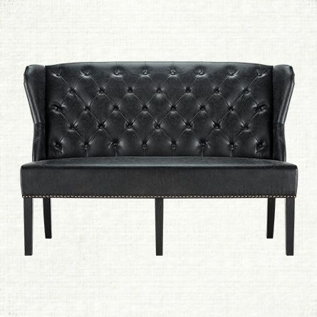 Greyson Eco Black Bench Sofas Black Bench Furniture Y Leather Bench
