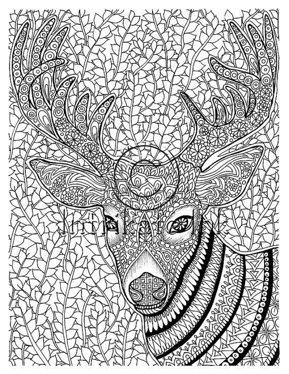 Página para colorear - animales para colorear, ciervos, Antilope ...
