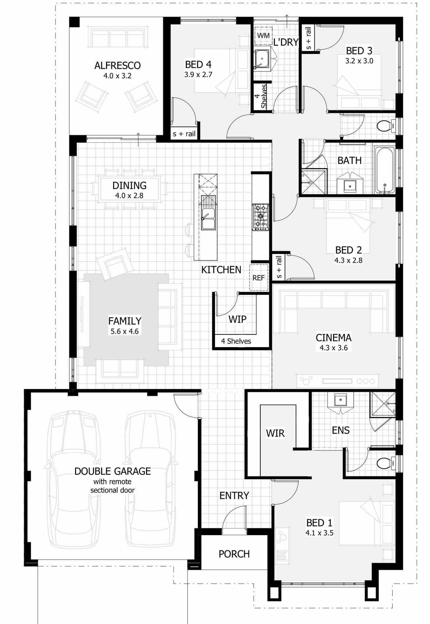 Inspirational Four Bedroom House Plans Farmhouse Layout Lovely Single Story 4 Bed In 2020 House Plans Australia Four Bedroom House Plans Single Story House Floor Plans