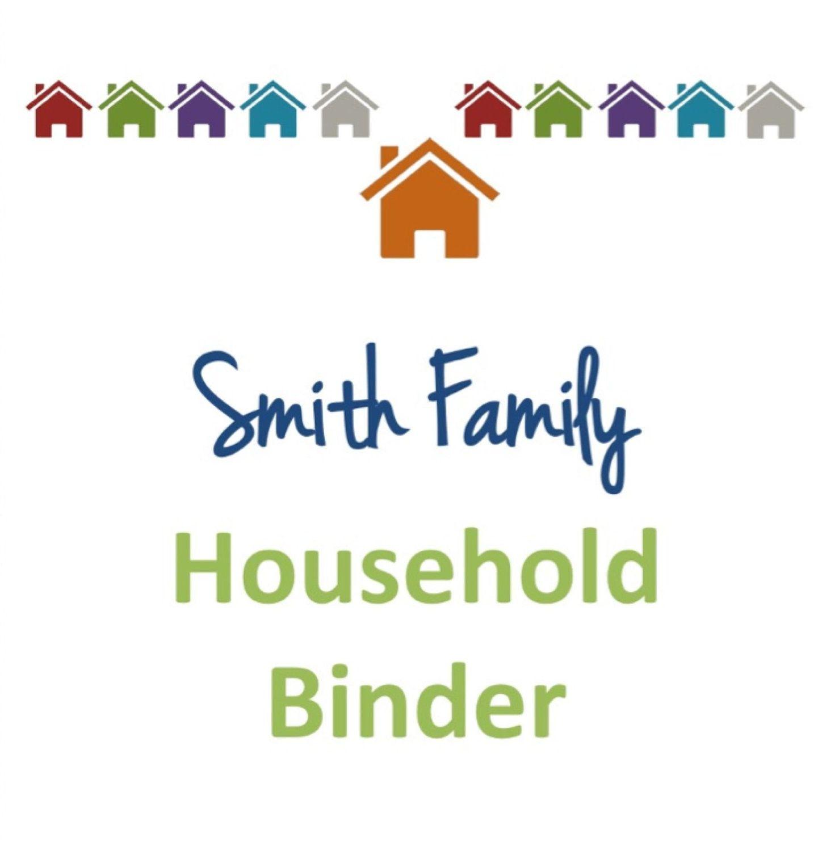 Household Binder Set Fillable Organizing Printables