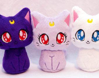 Amigurumi Cat Doll : Items similar to sailor moon cats luna artemis diana plush toy