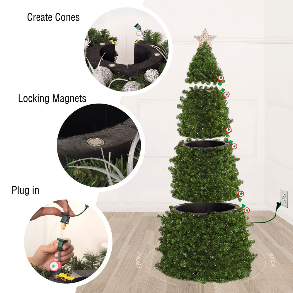 Easy Treezy The Words Simplest Pre Lit And Pre Decorated Christmas Tree Pre Decorated Christmas Tree Christmas Tree Decorations Christmas Tree