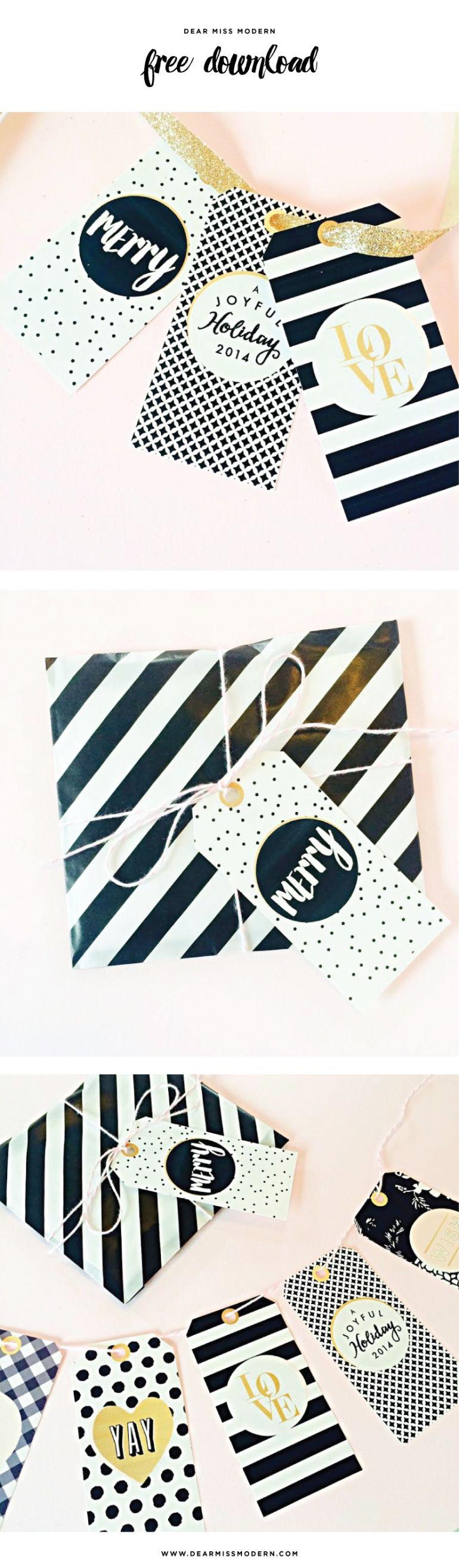 Free + Chic Holiday Gift Tags!   DIY   Pinterest   Regalitos ...