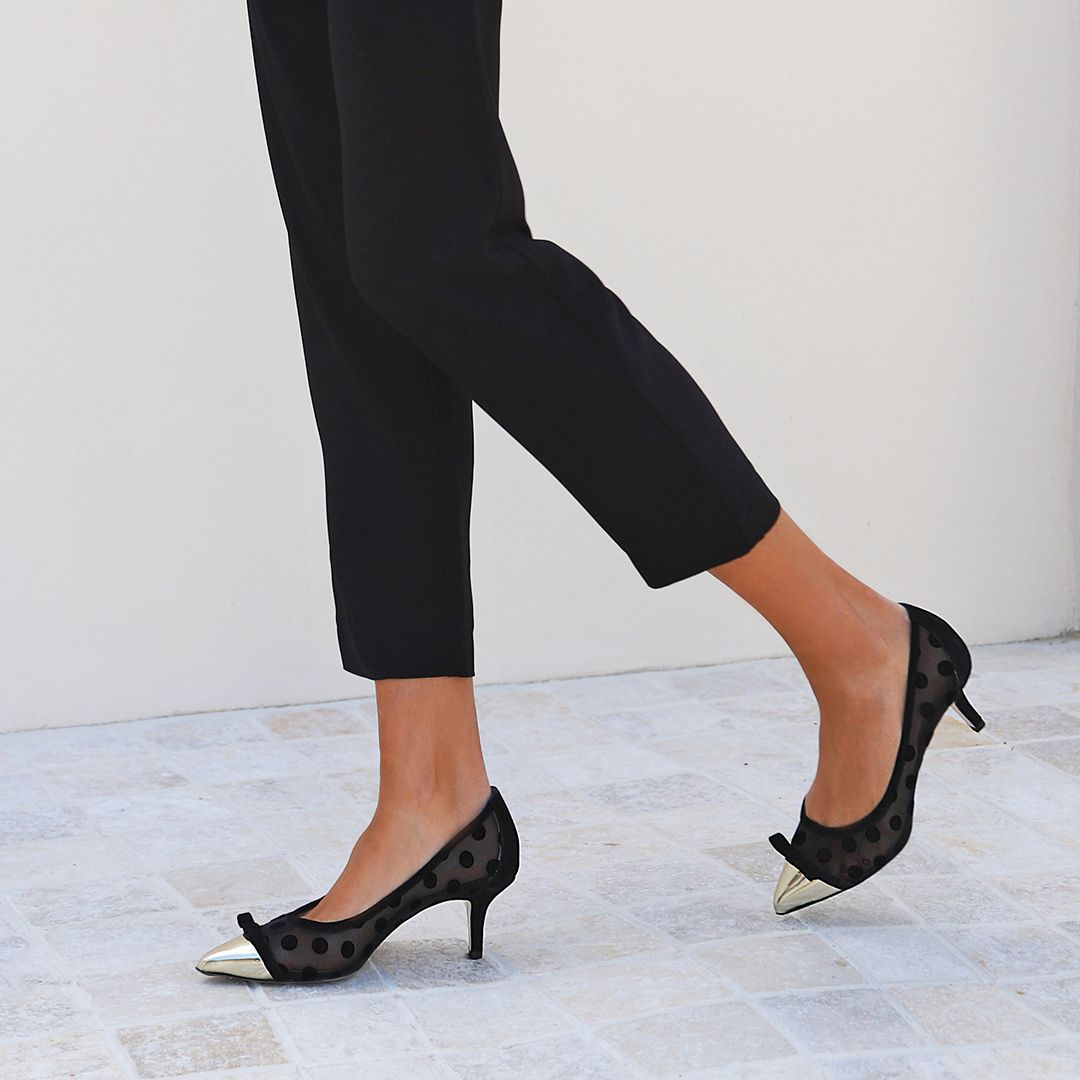 Fabulously Feminine New Fatoush Kitten Heel Get It At 20 Off Till Cob Or Midnight Online No Code Required Discount Wil Low Heels Court Shoes Heels